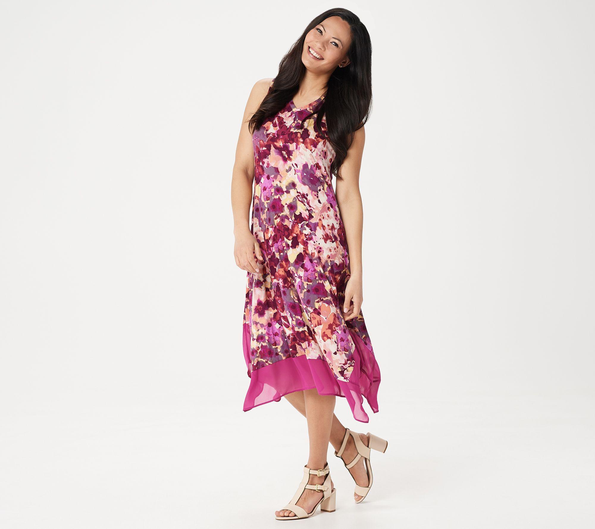 Logo By Lori Goldstein Knit Sleeveless Maxi Dress With Chiffon Trim Qvc Com Sleeveless Maxi Dress Dresses Maxi Dress [ 1778 x 2000 Pixel ]