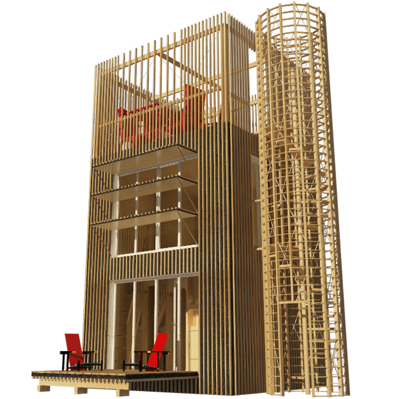 Small Tower House Plans Wooden House Plans Tower House Micro House Plans