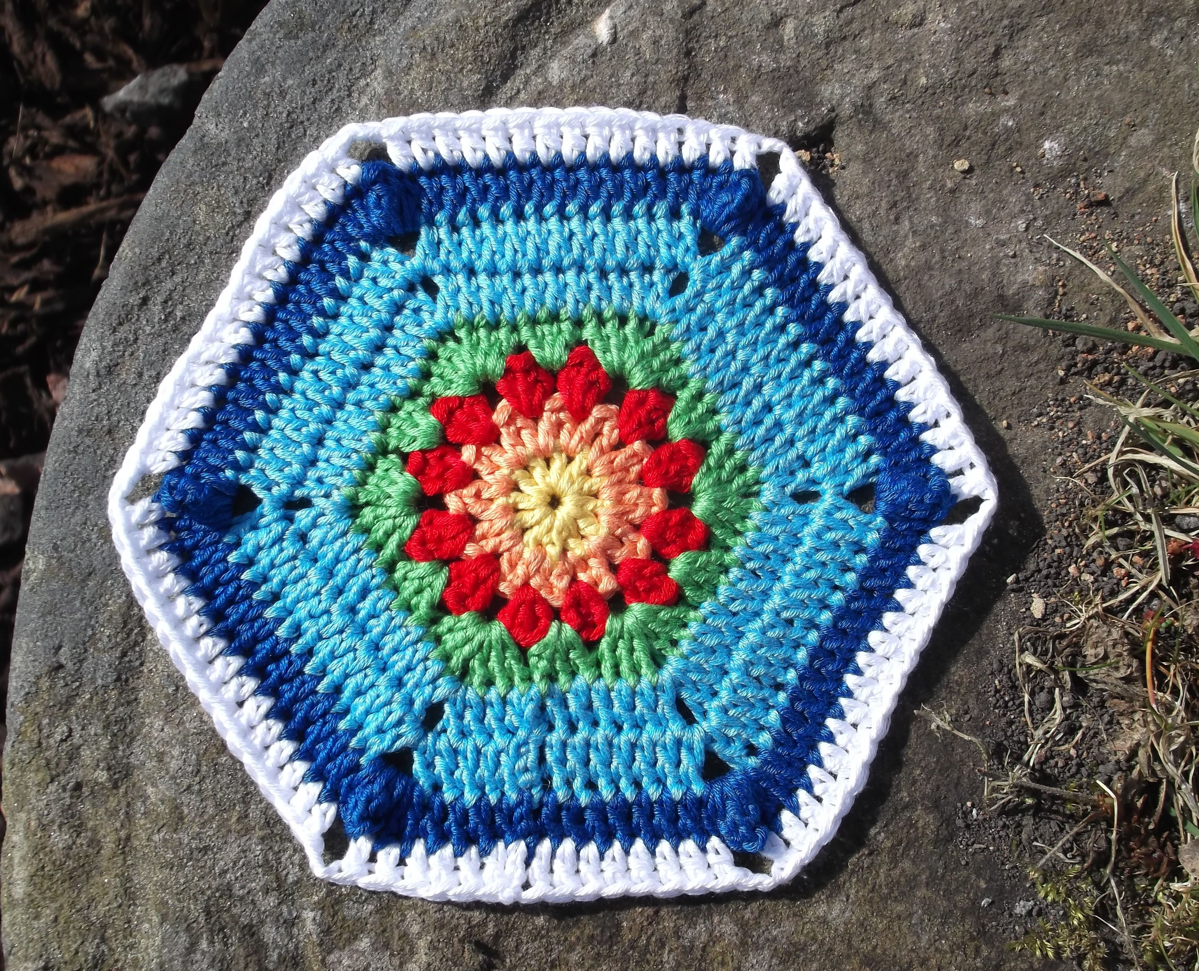 More hexagon crochets