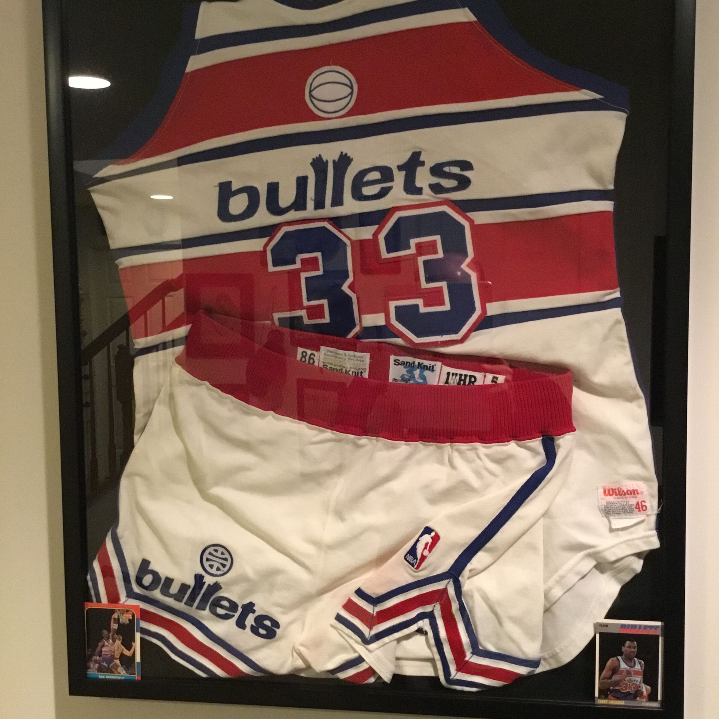 NBA Washington Bullets 1986 Terry Catledge Jersey Dan Roundfield