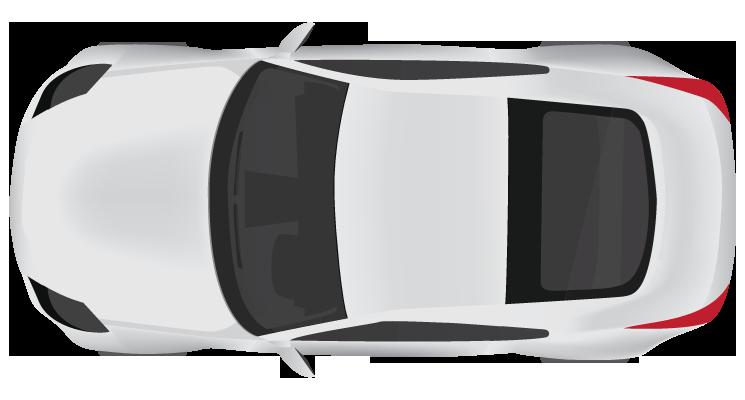 Cartoon Car Top View Clipart Best Car Top View Car Top View Tri Color Red Car