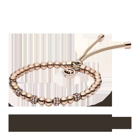 Michael Kors Rose Coloured Plated And Crystal Friendship Bracelet Bracelets Jewellery Goldsmiths