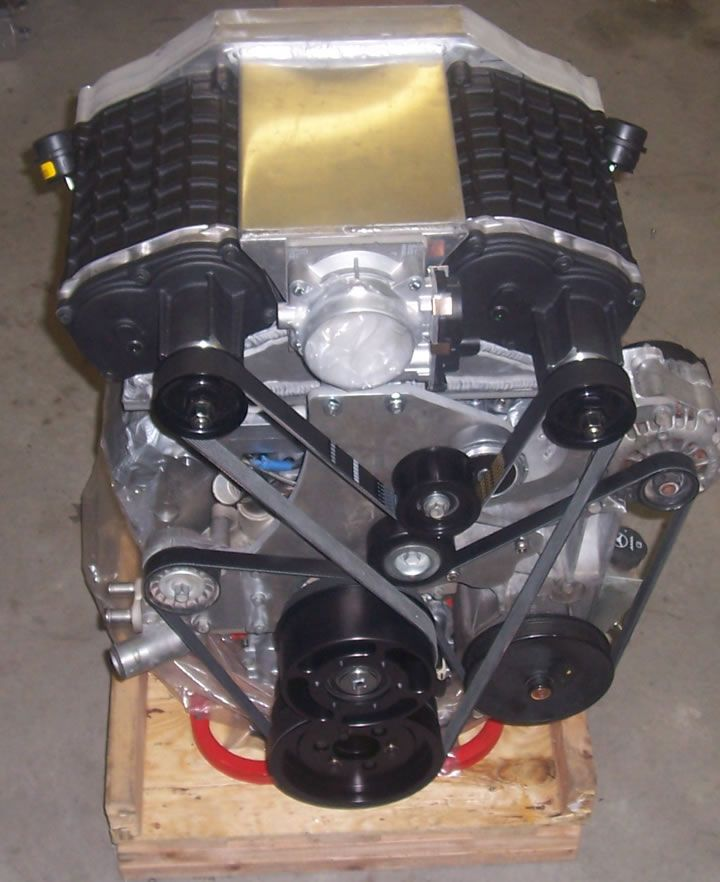 Twin Supercharged Chevy V6.