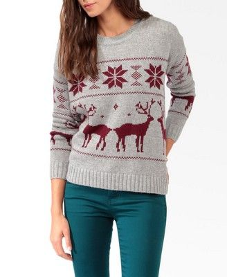 relaxed fair isle sweater from forever 21. some of ya'll may not ...