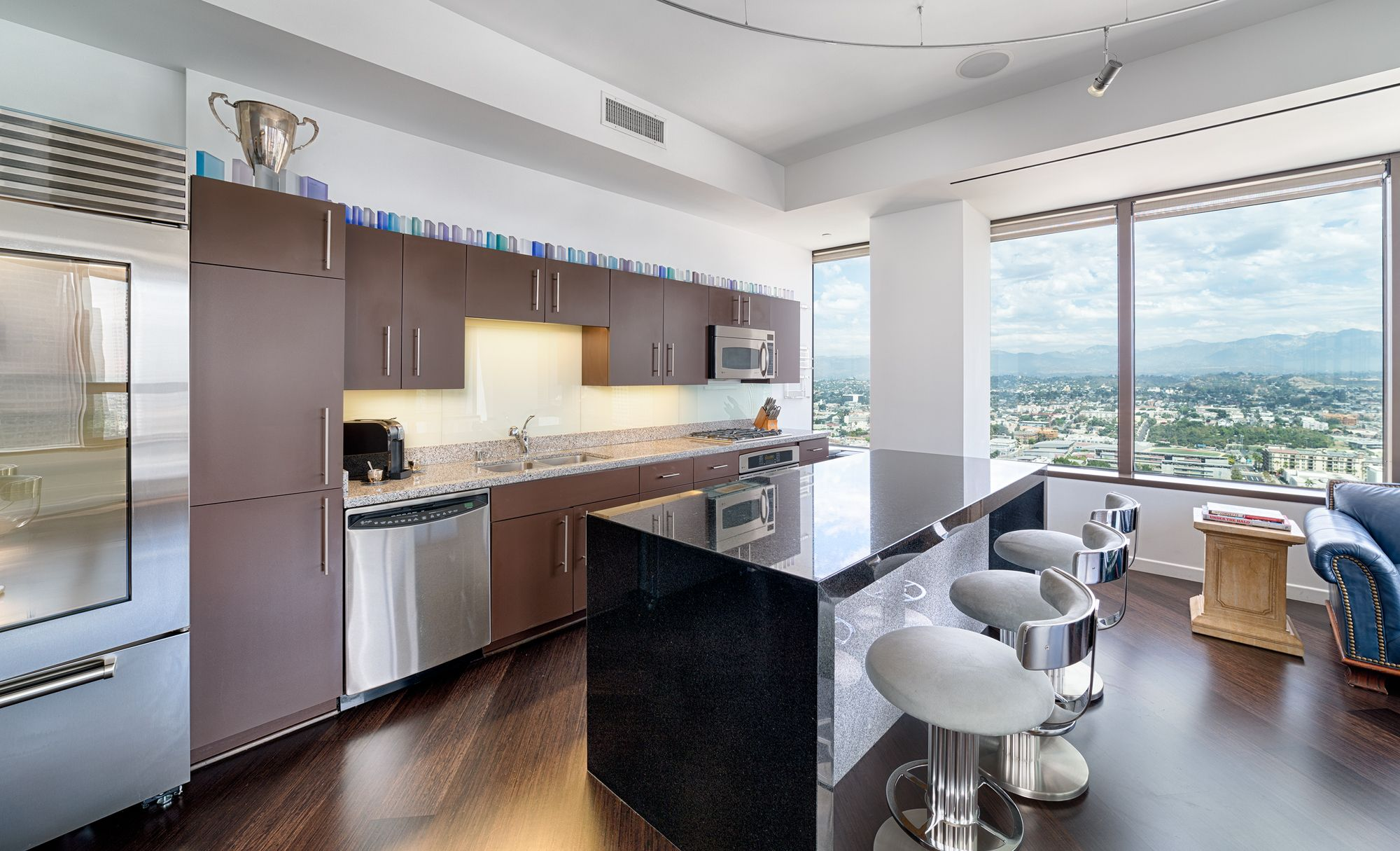Kitchen Views at 1100 Wilshire in Los Angeles