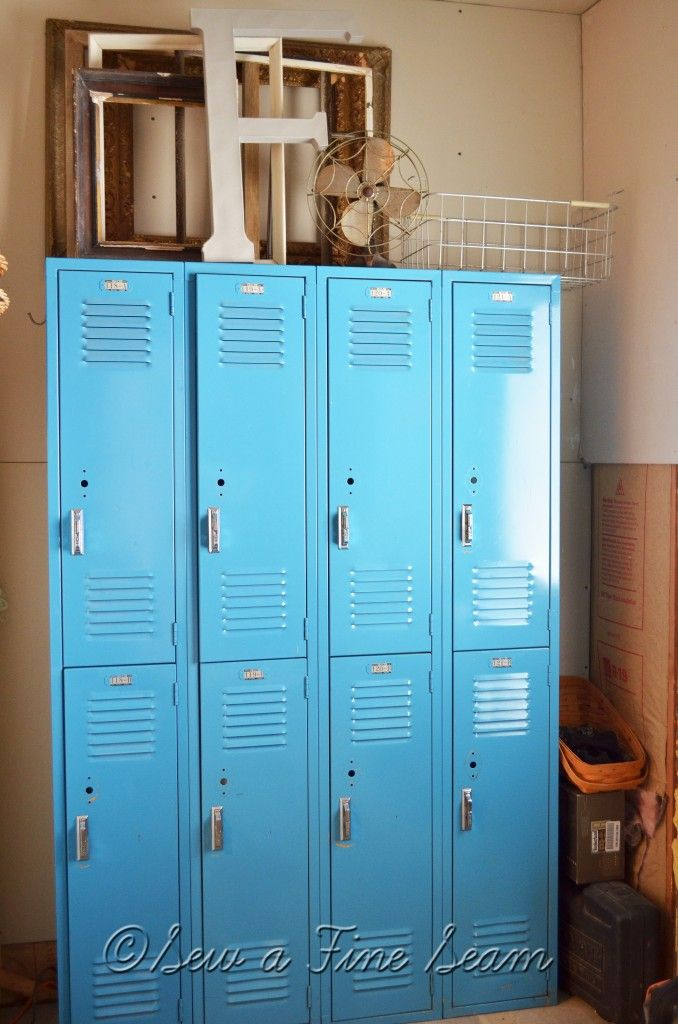 Storage Solutions When You Have An Old House With No Closets No Closet Solutions Vintage Lockers Metal Lockers