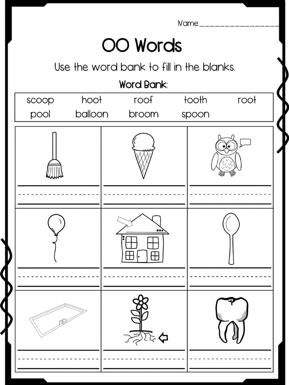 Oo Sound Interactive Worksheet In 2020 Phonics Worksheets Oo Words Phonics