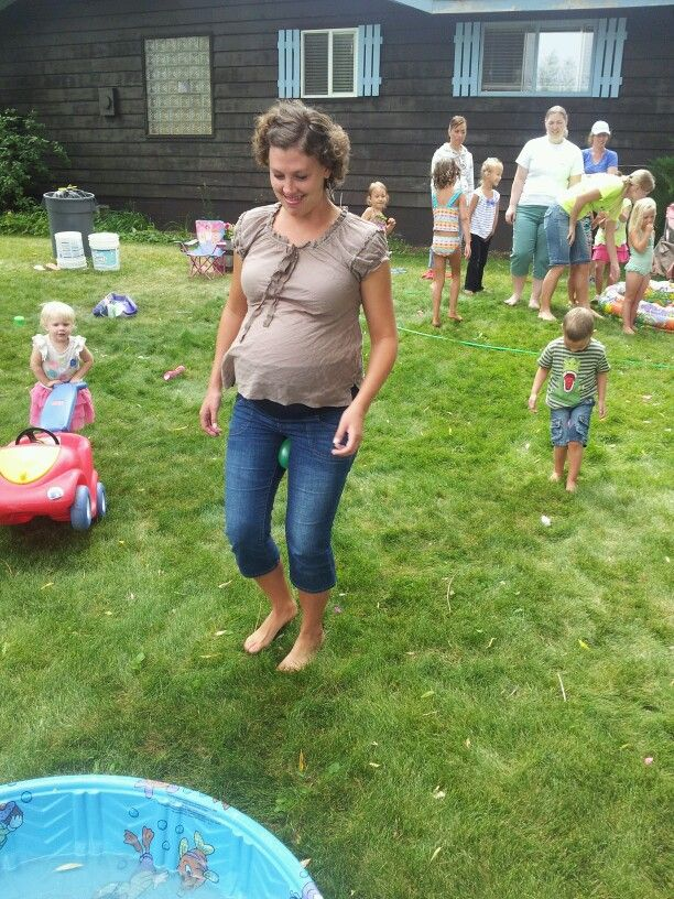 Baby Showers Without Games ~ Don t break your water baby shower relay game we divided