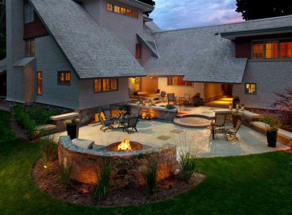Spectacular Outdoor Living Spaces (25 Photos) | Im Freien ... 25 Erstaunliche Ideen Garten Design Verbessern