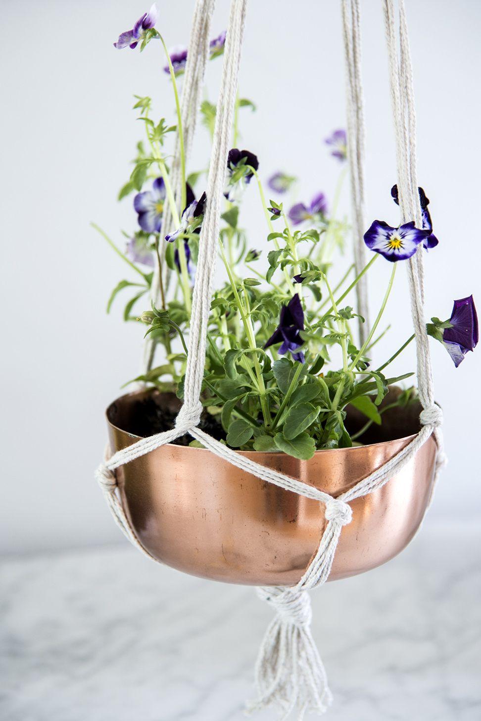 Hanging Basket Intratuin.Pothanger Macrame Plant Hanger Koper Trend Intratuin