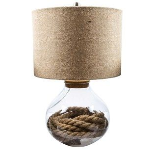 Refillable Glass Base Lamp with Burlap Shade | Shop Hobby Lobby ...