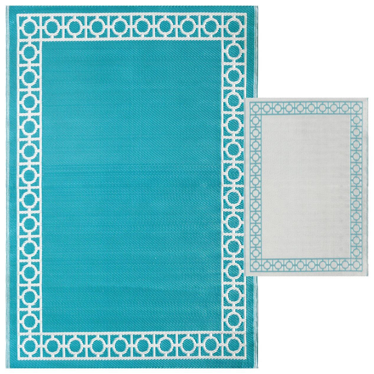 aqua outdoor woven area rug 5x7 area