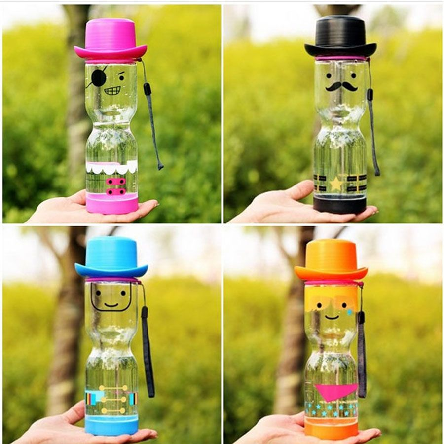 South Korean Creative Cartoon Doll Sports Water Bottle Plastic Cups