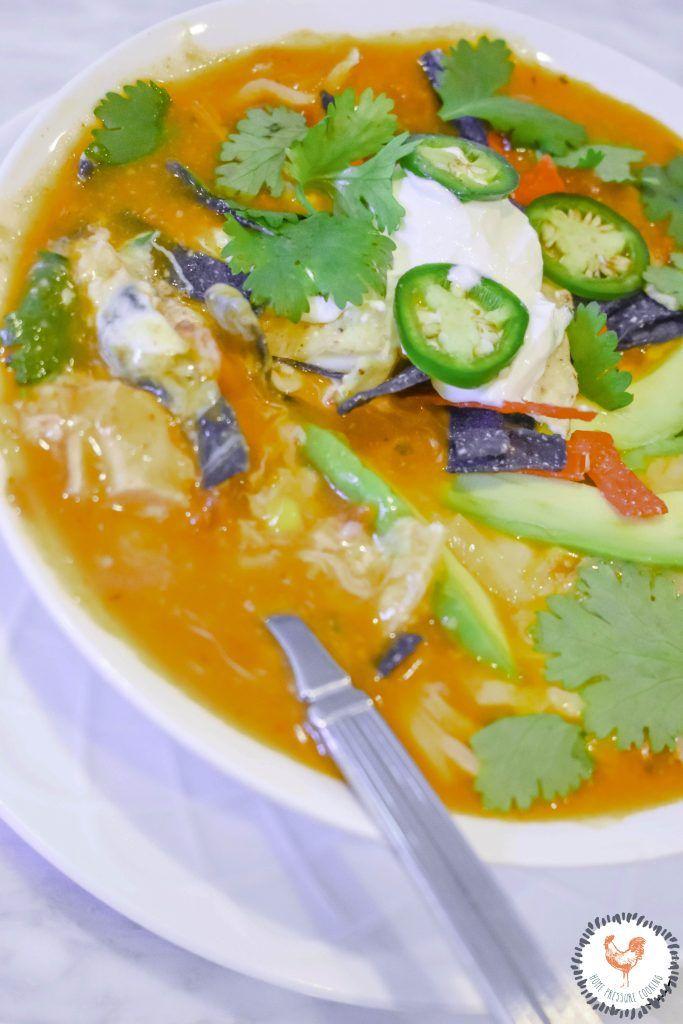 Instant Pot Chicken Tortilla Soup - Home Pressure Cooking #chickentortillasoup