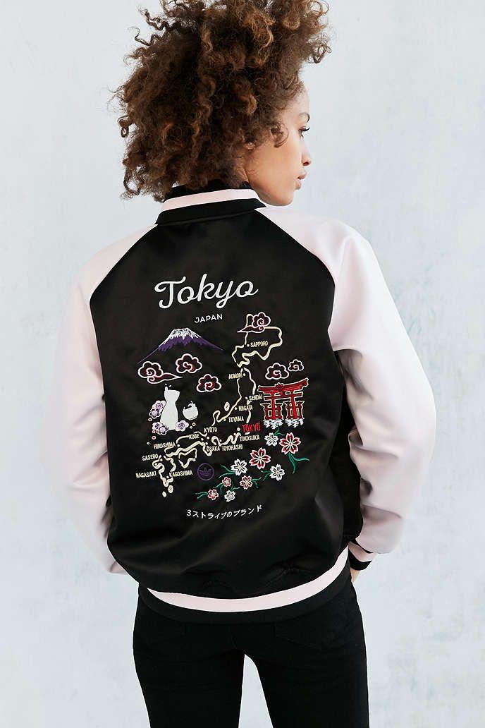 Adidas Originals By Rita Ora Reversible Souvenir Bomber Jacket Urban Outfitters Estilo Femenino Ropa Ropa Deportiva