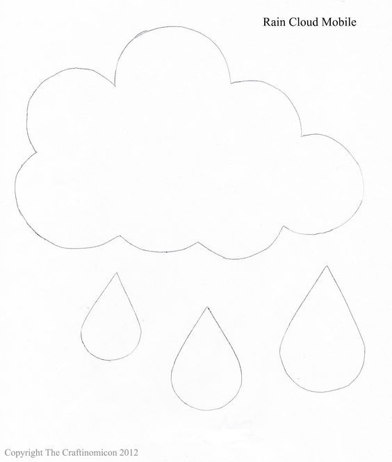Large Raindrop Pattern. Use The Printable Outline For Crafts