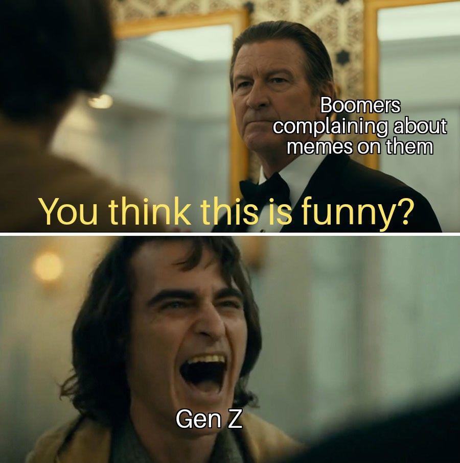 The Joker Movie Ok Boomer Meme Background Trendy Aesthetic Funny Gift Millennials Humor Funny Memes Dankest Memes Millennials Funny