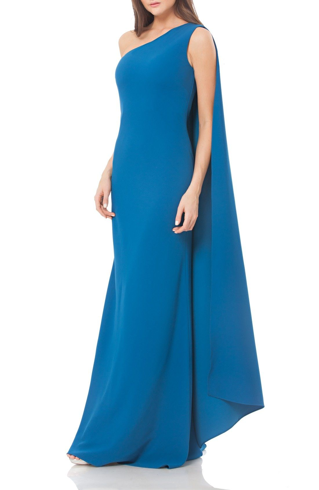 c86ae87effd2 Carmen Marc Valvo Infusion One Shoulder Stretch Gown available at #Nordstrom