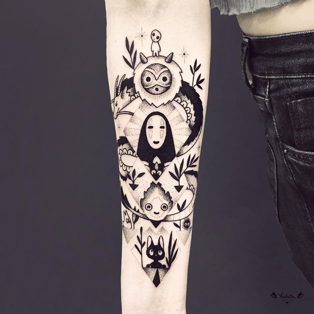 23 geometric tattoos ideas ghibli tattoo tattoos anime