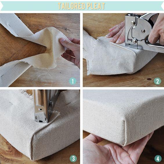 C mo tapizar las esquinas del asiento tapiceria - Materiales para tapizar ...