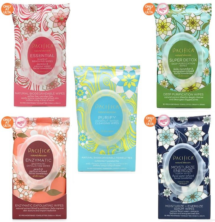 Pacifica Facial Wipes Wet wipes design, Cruelty free