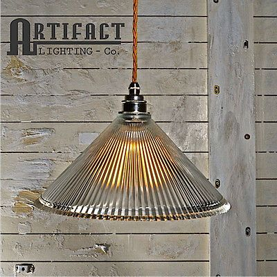 Glass Railway Prismatic Pendant L& Vintage Industrial Style Shade Modern Light & Glass Railway Prismatic Pendant Lamp Vintage Industrial Style Shade ...