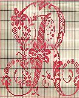 Ancient old cross stitch alphabet (17)