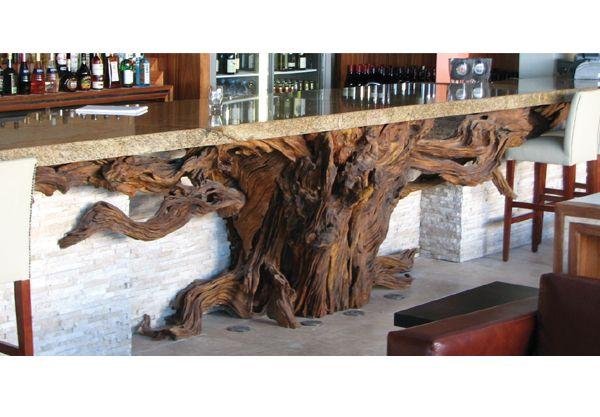 Bar Counter Driftwood Furniture House Design