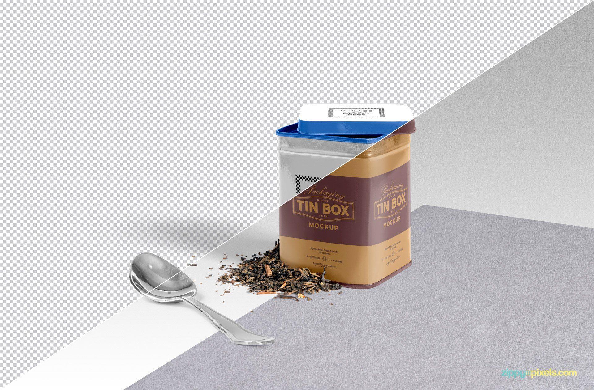 Free Cool Packaging Tin Box Mockup Psd Box Mockup Tin Boxes Cool Packaging