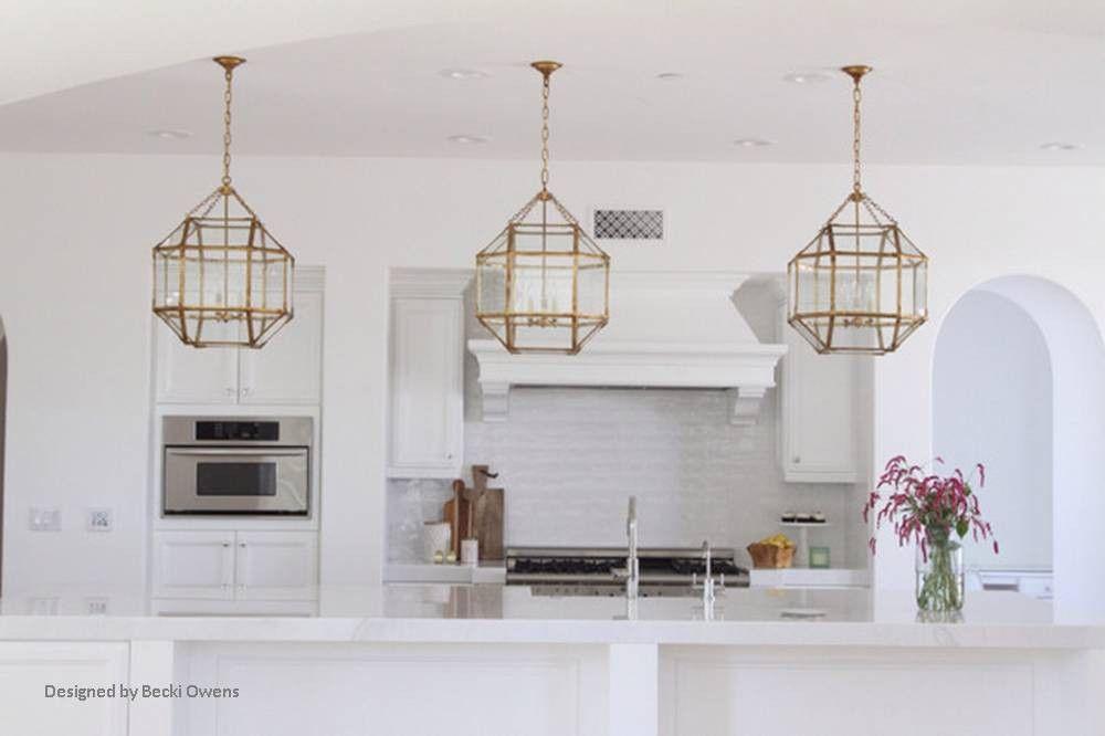 Morris Lane Lantern Pendant Visual Comfort Kitchen Island Lighting White Modern Kitchen Modern Kitchen Remodel