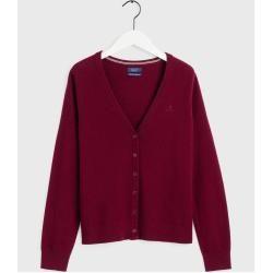Gant Superfeiner Lambswool Cardigan (Rot) GantGant #sweaterandcardigan