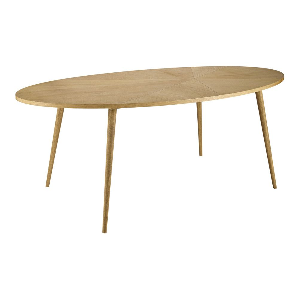 Table A Manger Ovale 8 Personnes L200 Maisons Du Monde Oval Table Dining Dining Table Wooden Dining Tables