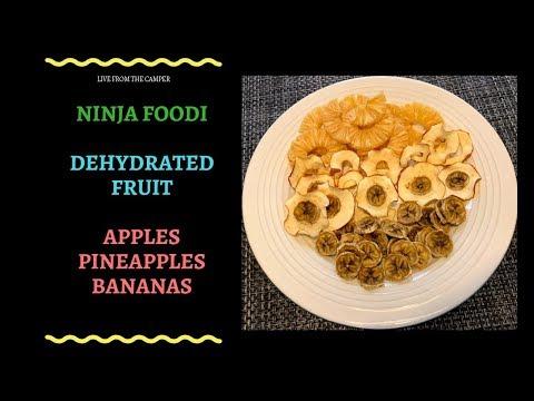 (16) Ninja Foodi Dehydrated Pineapples Bananas and Apples