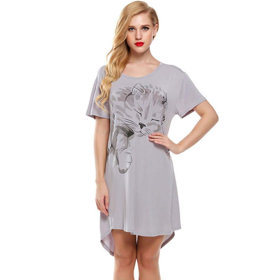 Women Nightgowns Summer Sleepwear Casual Night Dresses Plus size