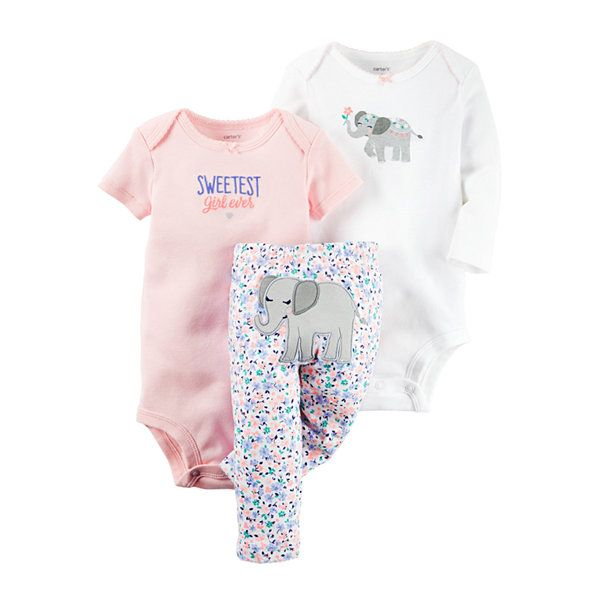 Carter's® 3-pc Elephant Layette Set - Baby Girls newborn-24m - JCPenney