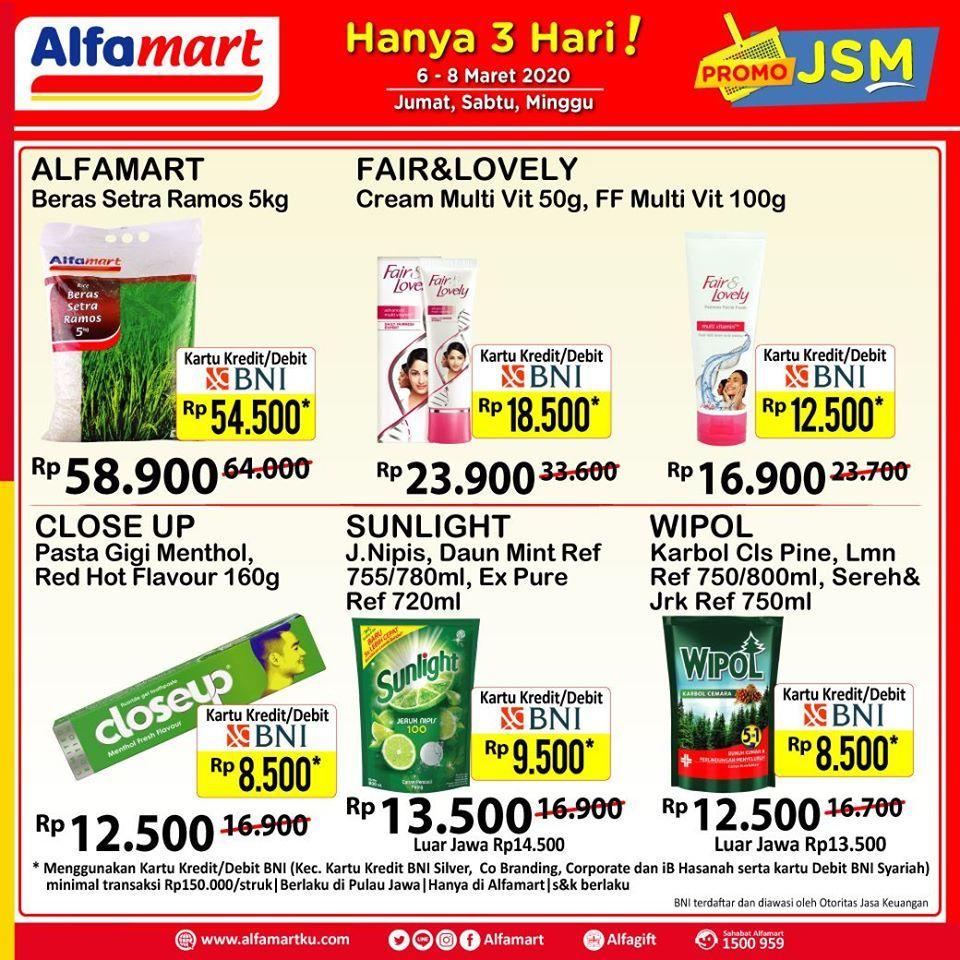 Promo Jsm Alfamart 6 8 Maret 2020 Di 2020 Kartu Kredit Brosur Minggu