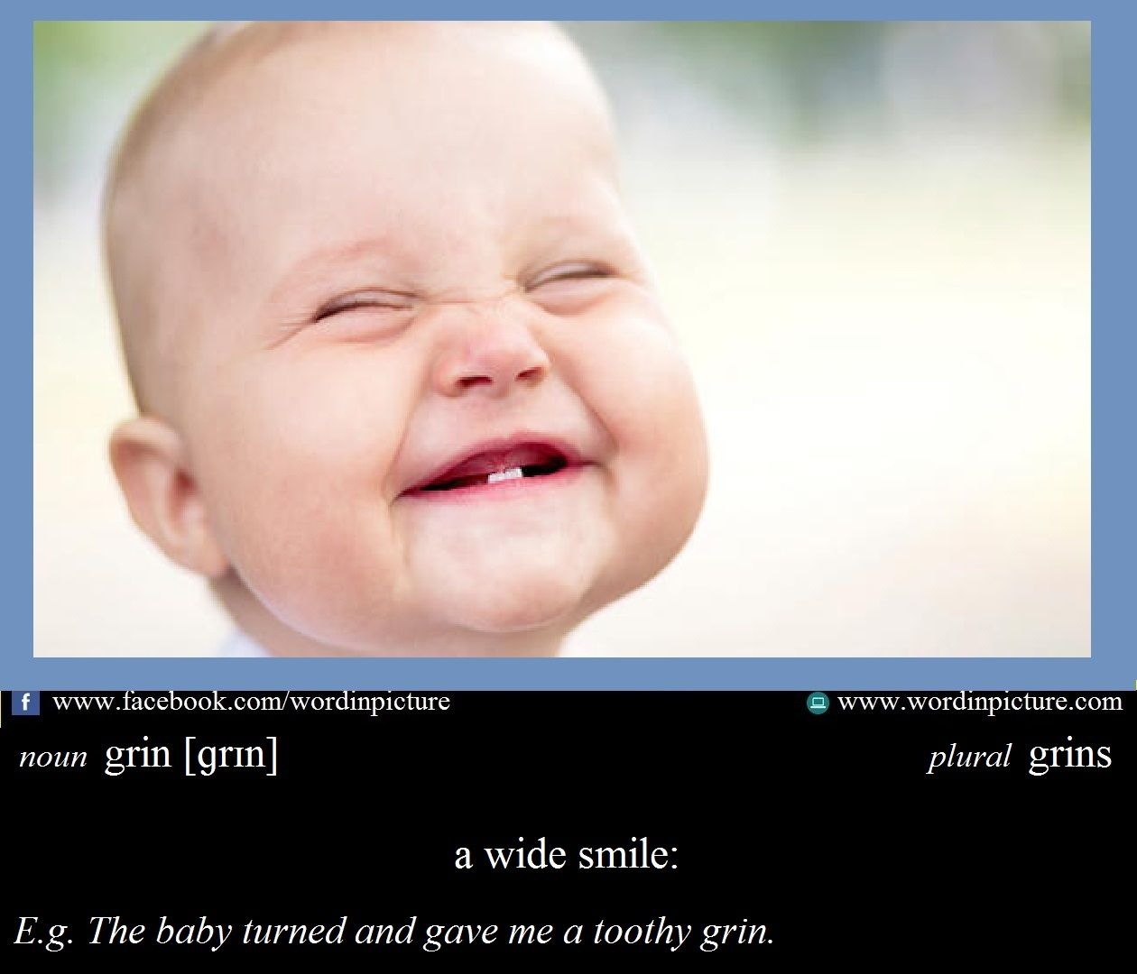 Learn New Word In English Grin Meaning Ielt Vocabulary Tip Ielts Succes I Counted Sweetest Line By Analysis Analysi