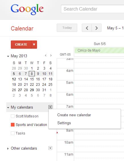 v_smatteson_share_calendar Google calendar, Today