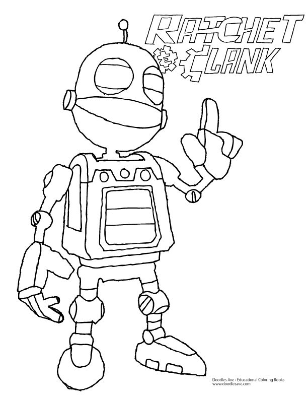 Ratchet and clank movie coloring sheet delightful for Ratchet coloring pages