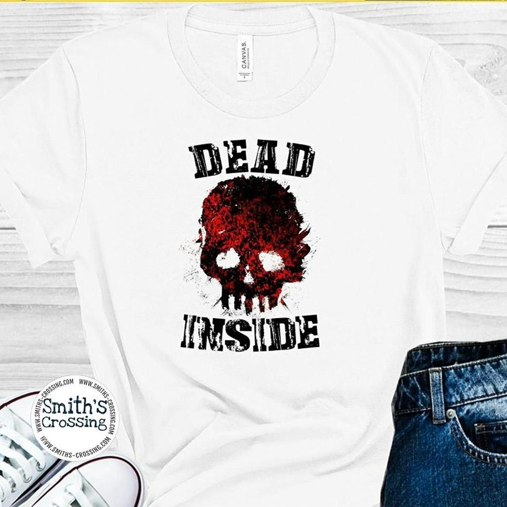 this can be for all year round #graphictee #skull #deadinside