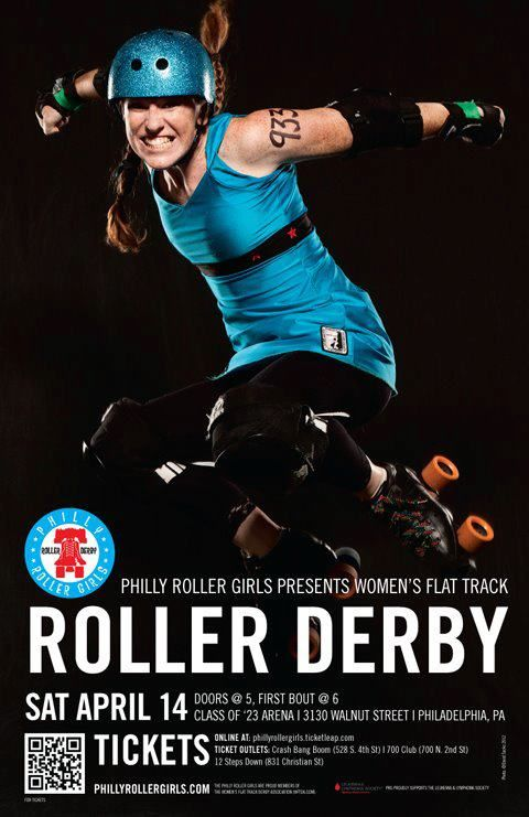 Ginger Vitis, #933, April Bout Flyer/ philly roller girls Derby - Gingervitis