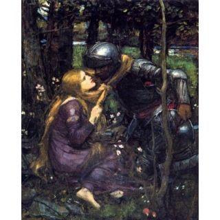 Handmade Oil Painting La Belle Dame Sans Merci study 1893 by John William Waterhouse