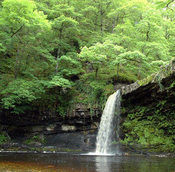 Waterfalls On The River Nedd Fechan In Pontneddfechan Neath Valley South Wales Uk