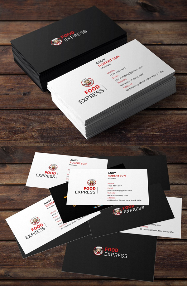 Restaurant Business Card Get More Beautiful And Unique Business Card Fr Restaurant Business Cards Business Card Template Design Corporate Business Card Design