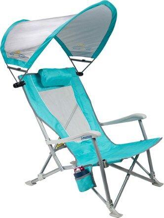 Photo of GCI Outdoor SunShade Recliner Chair Seafoam Green