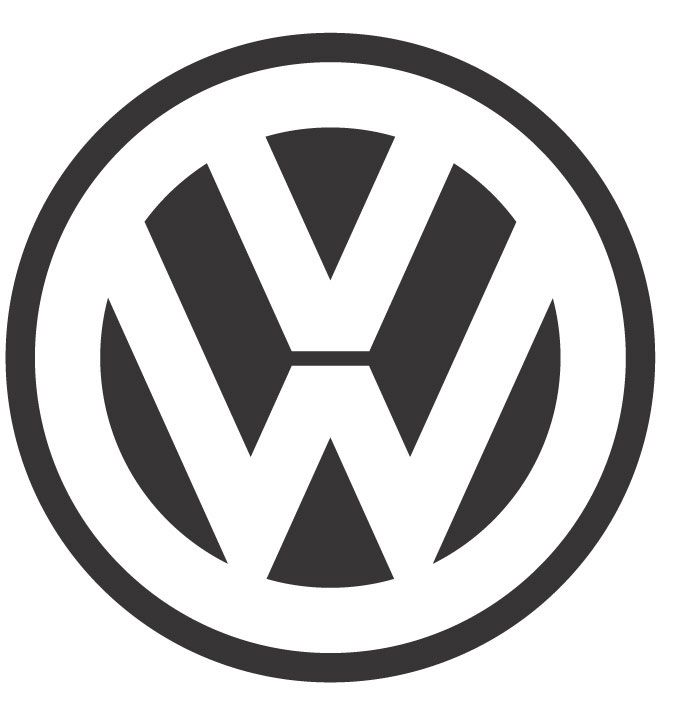 Vw Symbol Combination Marks Font Inside The Circle A Simple