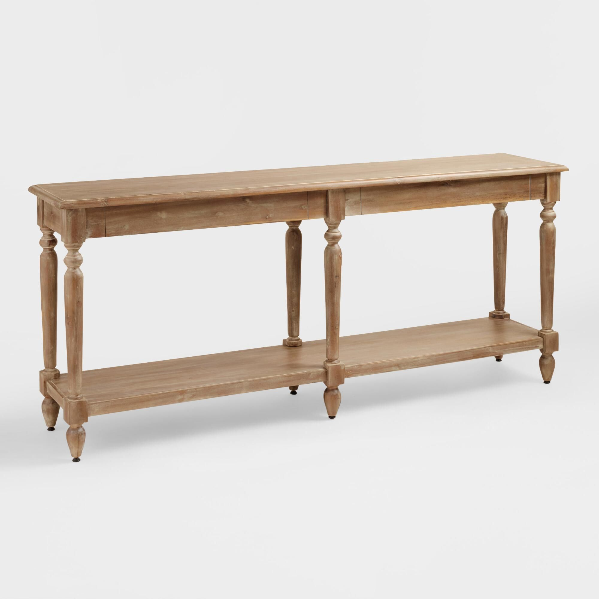 Everett Foyer Table Natural  Wood By World Market by World MarketCost Plus  Havenly