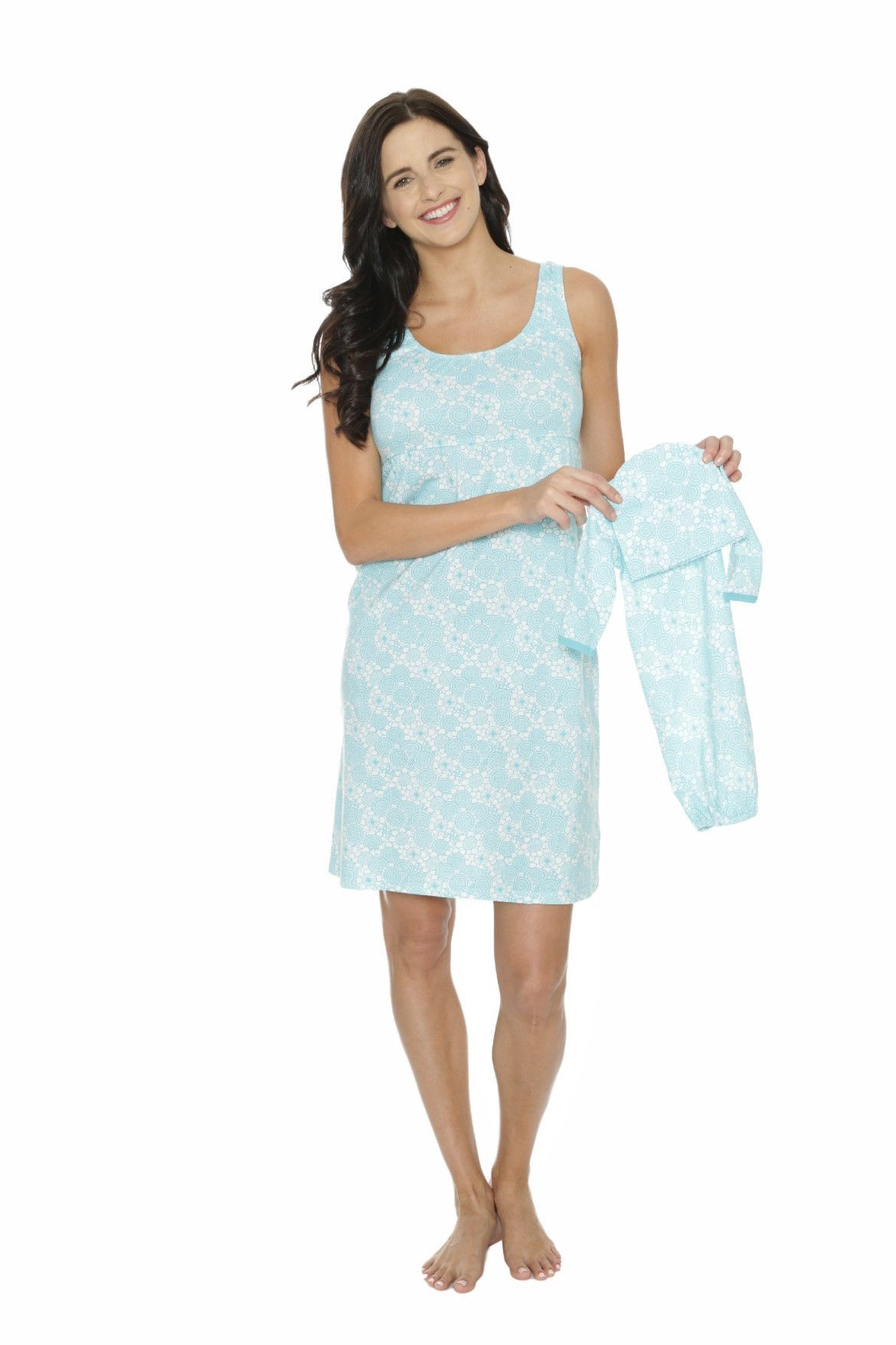 Celeste Maternity/Nursing Nightgown & Baby Receiving Gown Set | Baby ...