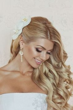 Long Bridal Hair Pulled To One Side I Do Pinterest Wedding