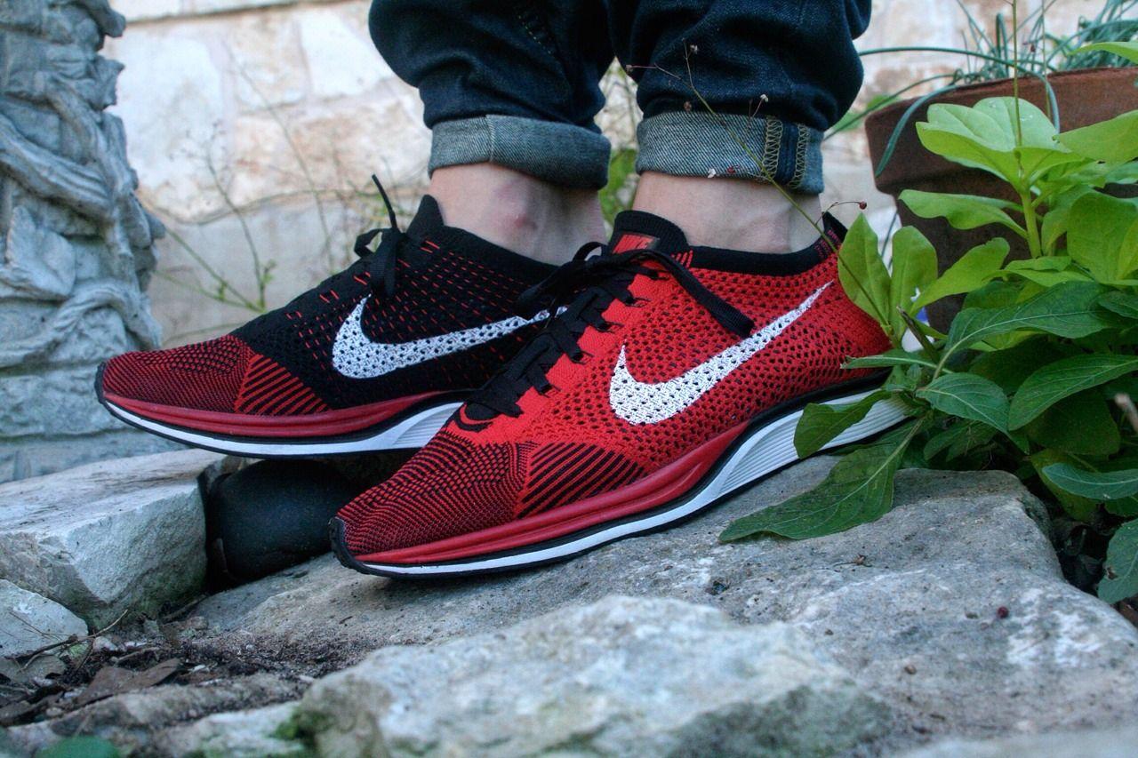 18fe5ae3c3077 Black · Sweetsoles – Nike Flyknit Racer - RedBlack ...